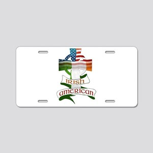 Irish American Celtic Cross Aluminum License Plate